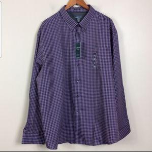 Van Heusen Relaxed Fit Plaid Dress Shirt S…